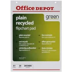 Office Depot A1 Plain recycled flipchart pads pack of 5