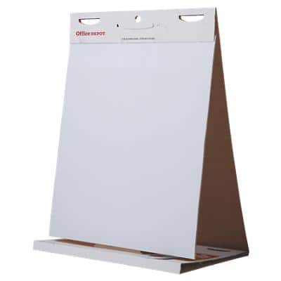 Office Depot Flipchart Pad 70gsm White Plain 500 x 600 mm 20 Sheets