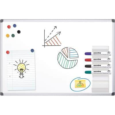 Office Depot Wall Mountable Magnetic Whiteboard Lacquered Steel 120 x 90 cm