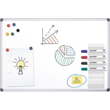 Office Depot Standard magnetic Whiteboard lacquered steel 120 x 90 cm