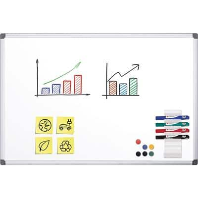 Office Depot Wall Mountable Magnetic Whiteboard Enamel Superior 90 x 60 cm