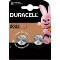 Duracell Button Cell DL2025B2 Batteries CR2025 3V Lithium 2 Pieces