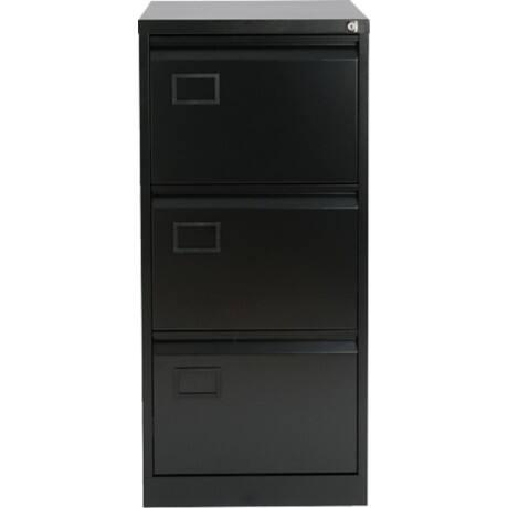 Bisley Filing Cabinet 3 Drawer Black 1 016 X 470 622 Mm