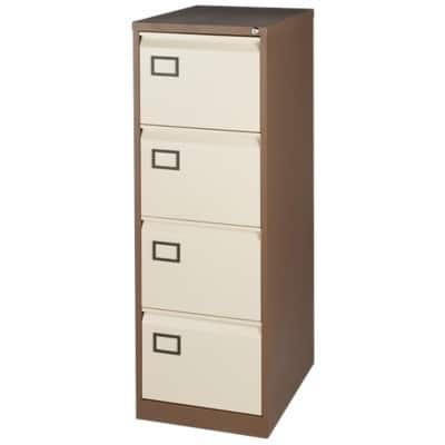 Bisley Filing Cabinet 4 Drawer Brown, Cream 1,312 x 470 x 622 mm