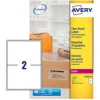 Avery Laser Labels L7568-25 Clear 25 labels per pack