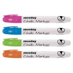 Niceday Chalk Marker CM2.4 Bullet Assorted Pack 4