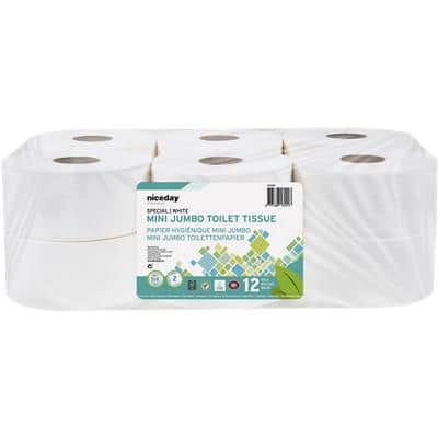 Niceday Professional Toilet Rolls Standard 2 Ply 12 Pieces of 557 Sheets