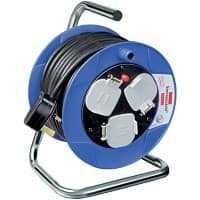 brennenstuhl Socket Cable Reel 3 Way Socket 15m Black & Blue