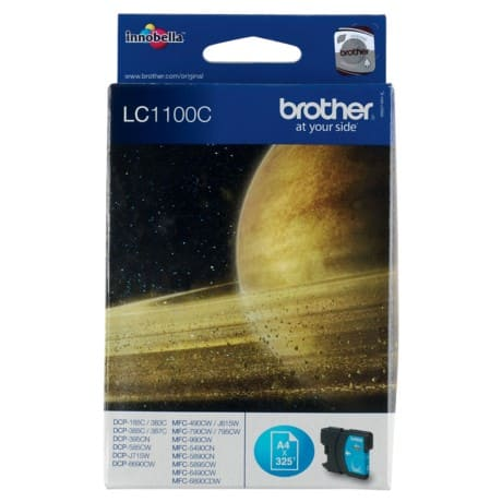 Brother LC1100C Original Ink Cartridge Cyan