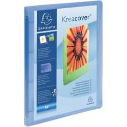 Exacompta kreacover Ring Binder A4 4 ring 15 mm Blue 12 pieces