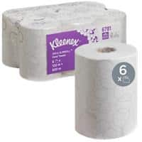 Kleenex Hand Towels Ultra Slimroll 2 Ply Rolled White 6 Rolls of 400 Sheets