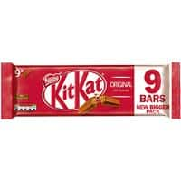 Nestlé KITKAT Original Chocolate Bar No Artificial Colours, Flavours or Preservatives 20.7g Pack of 9
