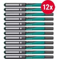 Foray Glide XF Rollerball Pen Green Pack 12