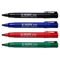 Permanent Markers K35-WLT4 Chisel Black, Blue, Green, Red Pack 4