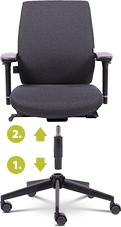 WorkPro Office Chair Toulouse Synchro Tilt Anthracite