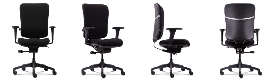 WorkPro Operator Chair Venice Basic Tilt Black