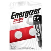 Energizer Button Cell Batteries CR2032 3V Lithium Pack of 2