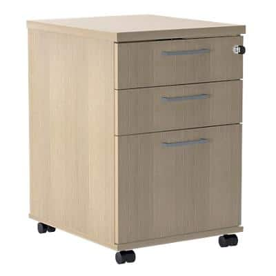 Mobile Pedestal PSR535 Oak 415 x 500 x 638 mm