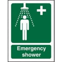 First Aid Sign Emergency Shower Self Adhesive Plastic 20 x 15 cm