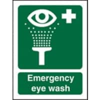 First Aid Sign Emergency Eye Wash Self Adhesive Plastic 20 x 15 cm