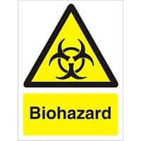 Warning Sign Biohazard Vinyl 20 x 15 cm