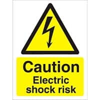Warning Sign Electric Shock Plastic 30 x 20 cm