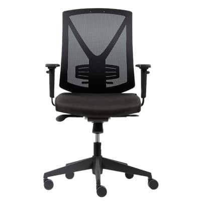Realspace Synchro Tilt Ergonomic Office Chair with 2D Armrest and Adjustable Seat Karl Black