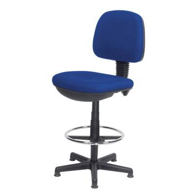 Realspace Draughtsman Chair Draughtsman Permanent Contact Blue