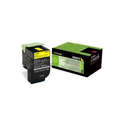 Lexmark 80C2HY0 Original Toner Cartridge Yellow Yellow