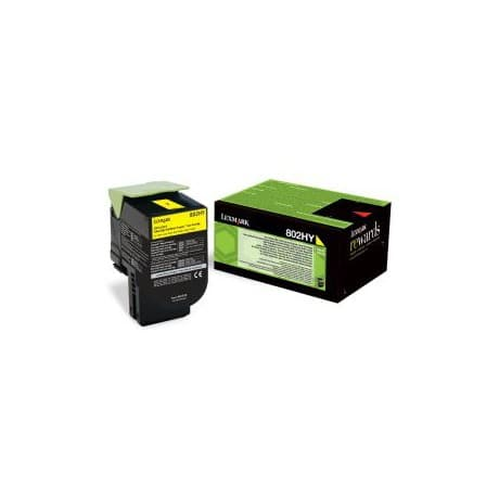 Lexmark 80C2HY0 Original Toner Cartridge Yellow
