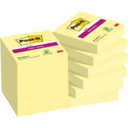 Post-it Super Sticky Notes Yellow Plain 48 x 48 mm 70gsm 12 pieces of 90 sheets