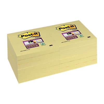 Post-it Super Sticky Notes 76 x 76 mm Yellow 12 Pieces of 90 Sheets
