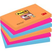 Post-it Z-Notes 76 x 127 mm Assorted 6 Pieces of 90 Sheets