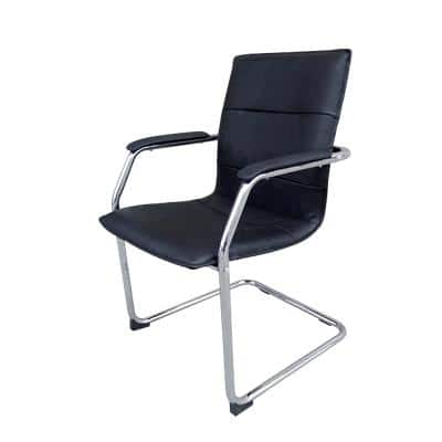 Realspace Visitor Chair with Armrest Baker Black