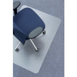 Clear Style polycarbonate chair mat for soft floors – 1150 x 1350 mm