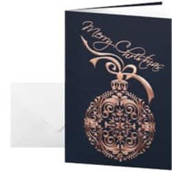 Sigel Christmas Cards Noblesse A6 270gsm Black, Gold 10 pieces