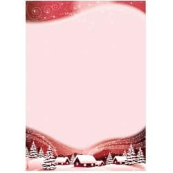 Sigel Christmas Paper Silent Night A4 90gsm Red 100 sheets