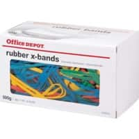 Office Depot Rubber X-Bands 160 x 11mm Ø 100mm Assorted 500g