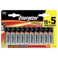 Energizer Batteries Max AA 20 Pieces