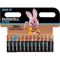 Duracell AAA Alkaline Batteries Ultra Power MX2400 LR03 1.5V Pack of 12