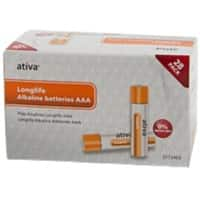 Ativa Batteries Longlife AAA 28 Pieces