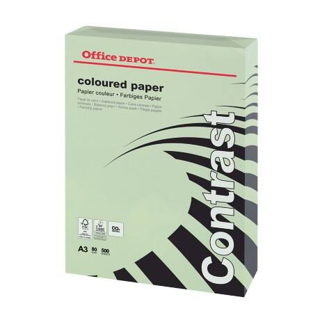 Office Depot Contrast Coloured Paper A3 80gsm Green 500 sheets