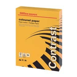 Office Depot Contrast Coloured Paper A4 80gsm Orange 500 sheets