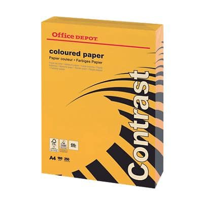 Office Depot Coloured Paper A4 160gsm Orange 250 Sheets