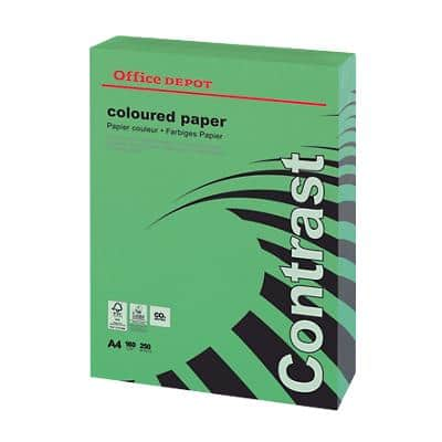 Office Depot Coloured Paper A4 160gsm Intense Green 250 Sheets