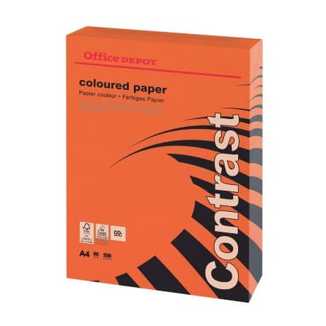 Office Depot Coloured Paper A4 80gsm Intense Red 500 sheets