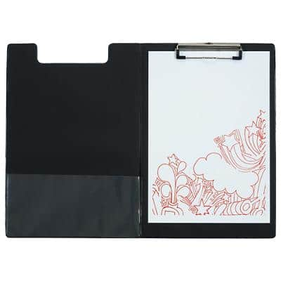 Office Depot Foldover Clipboard Black A4 23.5 x 34 cm PVC