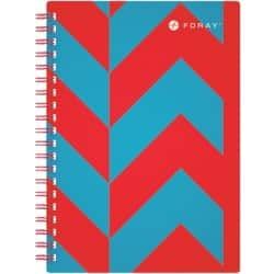 Foray Notebook Extreme Red, Turquoise Ruled perforated A5 21 x 16 cm