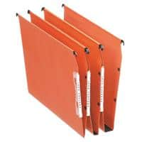 Esselte Orgarex Dual 330 Lateral Suspension File 21628 V Base 15mm 220gsm Orange 100% Recycled Manilla Pack of 25