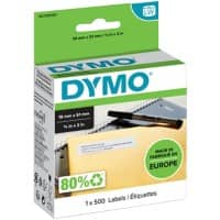 DYMO LW S0722550 Multipurpose Labels, Authentic, Self Adhesive, White 19 mm x 51 mm, 500 Labels